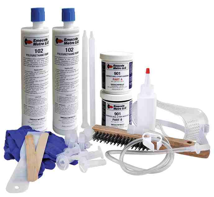 foundation crack repair set sold by TIF supply