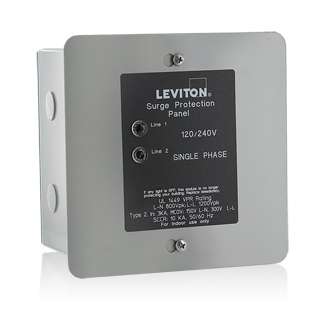 leviton surge protection panel