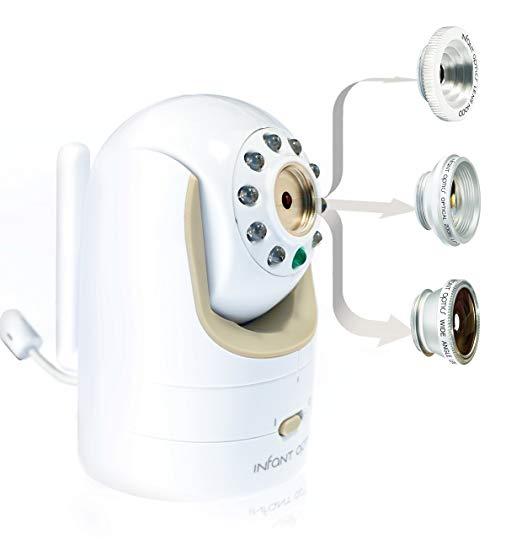 shoeing lenses of infant optics camera baby monitor