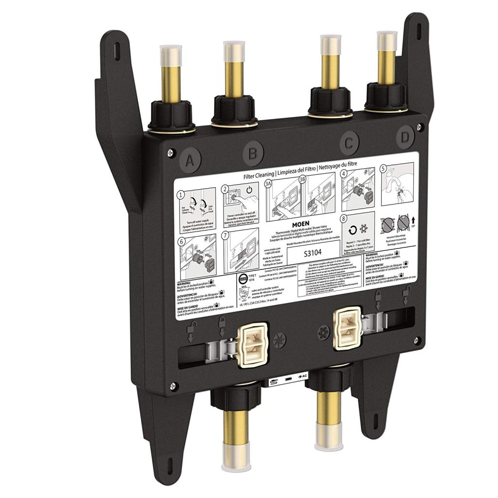 four outlet valve model for smart shower