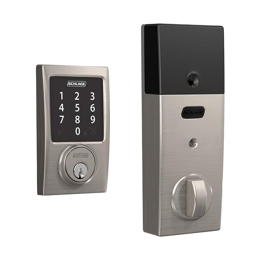 Schlage century satin nickel sense smart door lock