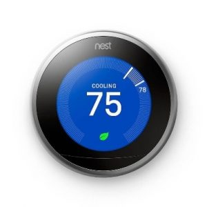 nest smart thermostat cooling interface